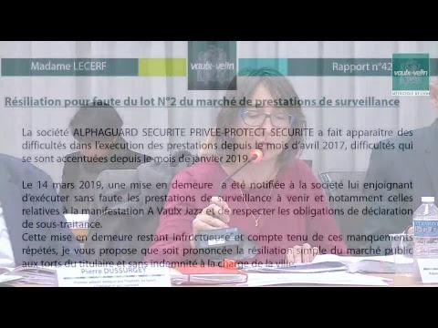 Conseil Municipal – Ville de Vaulx-en-Velin – jeudi 11 avril 2019