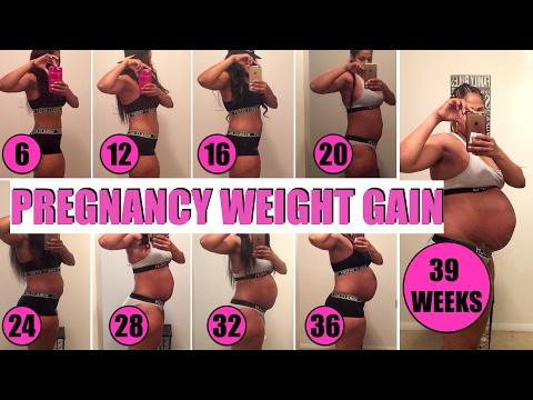 PREGNANCY WEIGHT GAIN | HOW MUCH DID I GAIN?!