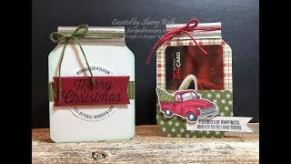 Mason Jar Card & Gift Card Holder Using Envelope Punch Board