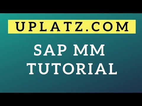 SAP MM Tutorial | SAP MM Online Training |Uplatz - YouTube