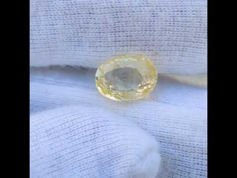 Sapphire Yellow  - 5.89 Carat
