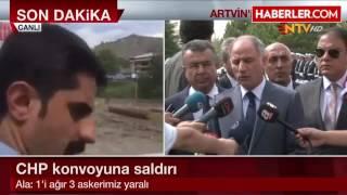 içişleri bakanı chp konvoyuna yapılan saldırıda 1i ağır 3 asker yaralı