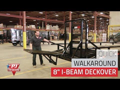 2020 PJ Trailers 8 in. I-Beam Deckover (F8) - 28 ft. in Acampo, California - Video 1