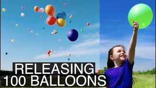 What Happens When You Release 100 Balloons
