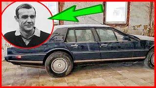 Abandoned Aston Martin Lagonda. Stood for over 20 years. A very rare car
