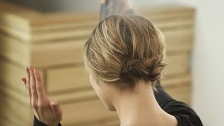 Aveda How-To | Festive Short Hair Pinned Up Hairstyle