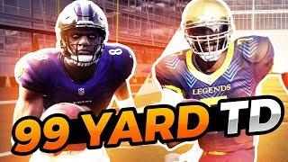 Can Lamar Jackson Get A 99 Yard Run Before Michael Vick? Madden 19 Challenge