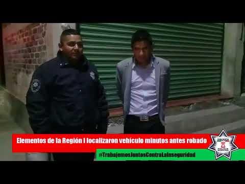 Policía de Chimalhuacán recupera vehículo robado