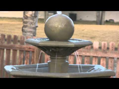 Video for Provence Dark Travertine Outdoor Floor Fountain