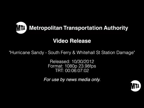 Hurricane Sandy water damage to NYC subway stations and tunnels