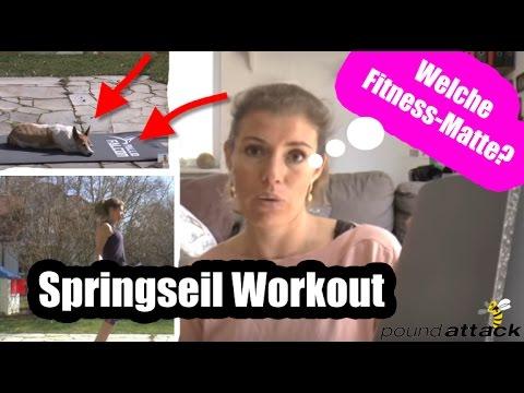 Springseil Workout + Welche FITNESS-MATTE ich verwende und warum!    poundattack.de