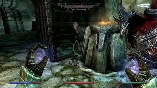 Skyrim Выживание Пещера Говорящие холмы, Висельная скала, пруд Глаз Мары Серия 71