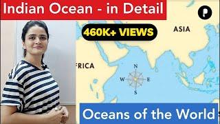 World Map: Oceans - Indian Ocean (हिंद महासागर) - In Detail