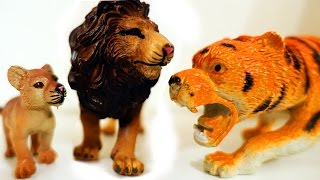Приключения Животных! Смелый Львёнок против Тигра и Леопарда. Дикие Животные для детей Игрушки ТВ