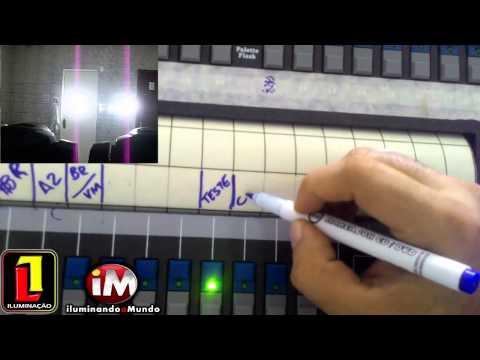 13ª de 30 – Avolites Pearl 2010 – Gravando CHASE em MODO CHANNEL – Manual em Vídeo