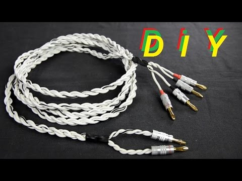 How To Make Bi-wire Speaker Cables - DIY Speaker Cables #DIY9