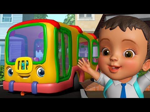 School Bus Song – स्कूल बस गीत   Hindi Rhymes for Children   Infobells