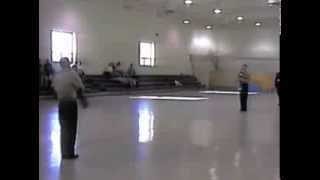 preview picture of video 'Portage High School MCJROTC Armed Exhibition Duet - Springfield - 2001'