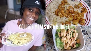 EASY MEALS FOR BROKE COLLEGE STUDENTS! (Budget Friendly) | Toldbyashley