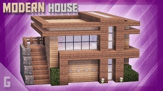 Minecraft: How To Build A WOODEN Modern House! (#51)
