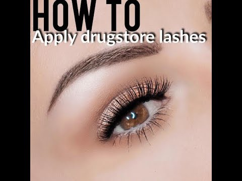 HOW TO APPLY LASHES QUICKLY FOR BEGINNERS