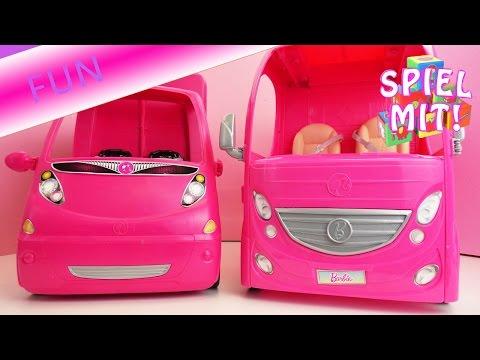 Barbie Camping Deutsch Vergleich Glam Camper und Super Ferien Camper – Alles in Rosa