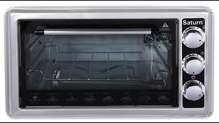 """Печь электрическая Saturn ST-EC 1076 (объем 36 л, вертел) от компании Компания """"TECHNOVA"""" - видео"""
