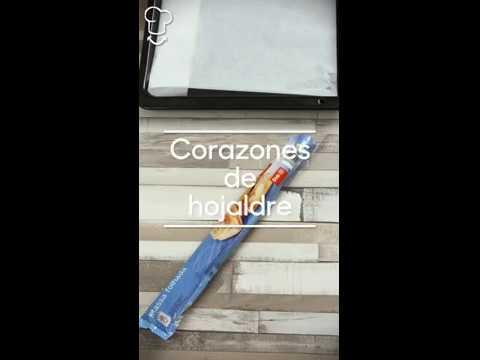Corazones de hojaldre - vídeo receta