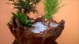 DIY Vaso De Toalha Para Mini Jardim. Mini Gardens Towel Vase