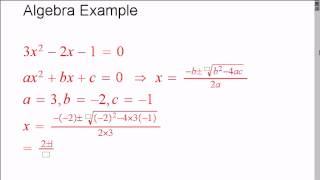MathTalk Example Voicing Algebra
