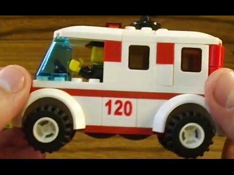 Lego совместимый Umiks Скорая помощь U0103 103 детали Обзор и сборка Лего совместимого конструктора