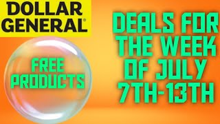 DOLLAR GENERAL BEST DEALS OF THE WEEK JULY 7TH -13TH