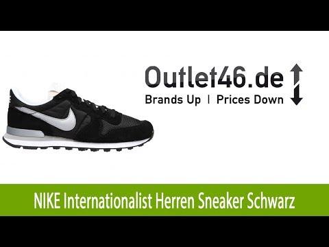 Neu: NIKE Internationalist Herren Schuh Sneaker Schwarz l Outlet46.de