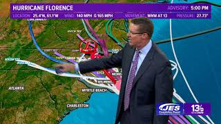 Tropics Update: Tracking Hurricane Florence, other systems Monday, September 10, 2018