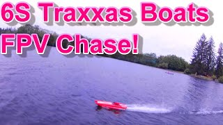 Traxxas boat chase with fpv drone