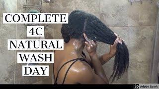 WASH DAY ROUTINE | LONG 4C NATURAL HAIR