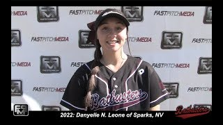 2022 Danyelle Leone Committed Dixie State - Pitcher Softball Skills Video - Nevada Batbusters