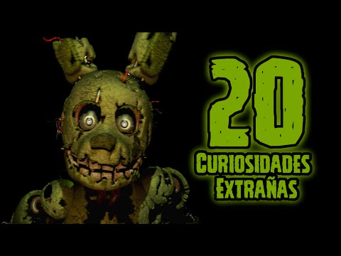 TOP 20: Las 20 Curiosidades Extrañas De SpringTrap En Five Nights At Freddy's 3 | fnaf 3