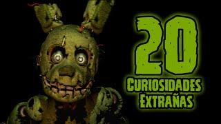 TOP 20: Las 20 Curiosidades Extrañas De SpringTrap En Five Nights At Freddy's 3   fnaf 3