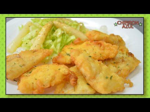 Pescado rebozado filetes de merluza fácil y sabroso