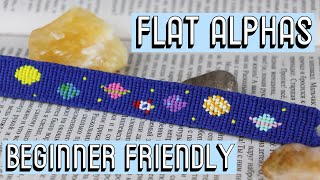 FLAT ALPHA BRACELETS - BEGINNER TUTORIAL || Friendship Bracelets