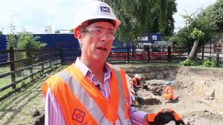 preview picture of video 'Crossrail Archaeology: Stepney City Farm Community Dig, July 2013'