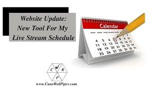 Introducing My Live Stream Calendar 17 Feb 2020