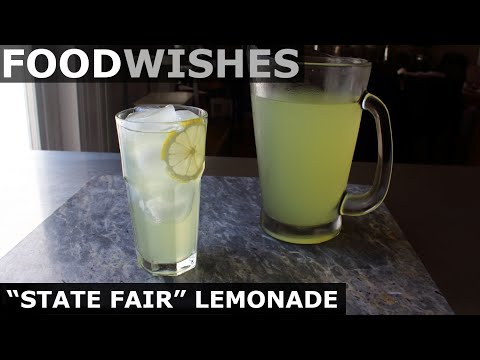 """State Fair"" Lemonade – Best Lemonade Ever – Food Wishes"