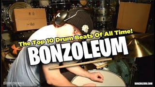 THE  TOP 10 DRUM BEATS OF ALL TIME
