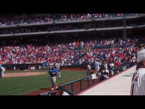 "Mark Luckenbill singing ""God Bless America"" - Phillies Baseball"