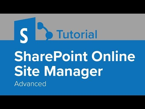 SharePoint Online Site Manager Advanced Tutorial - YouTube