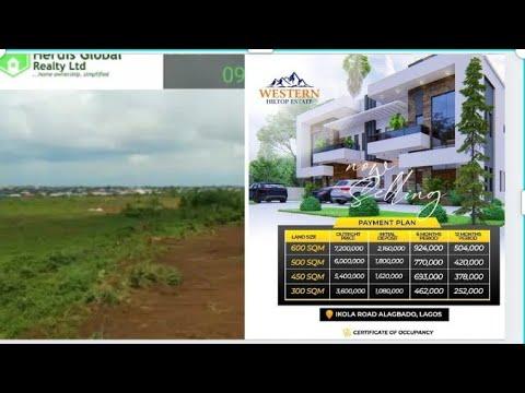 Residential Land for sale Western Hilltop Estate Ikola Alagbado Alimosho Lagos
