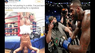 ANTHONY JOSHUA ADMIT'S CONTRACT NOT SIGNED, AND ONCE AGAIN EXPOSSED THE WBA FAKE 24 HOUR DEADLINE ! | Kholo.pk