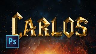 Tutorial Photoshop | Efecto Texto Warcraft | Texto Oro